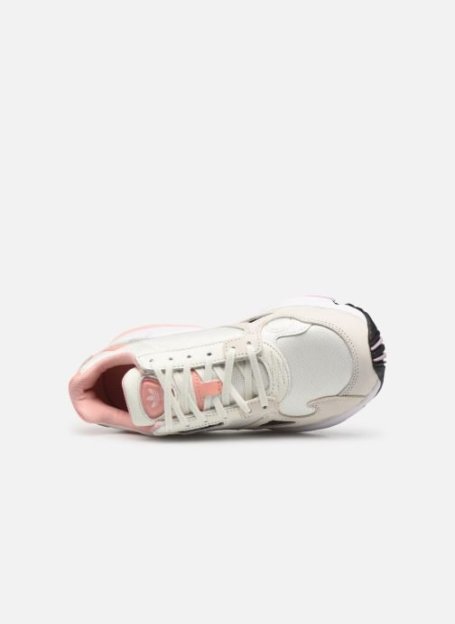 Baskets adidas originals Falcon W Beige vue gauche
