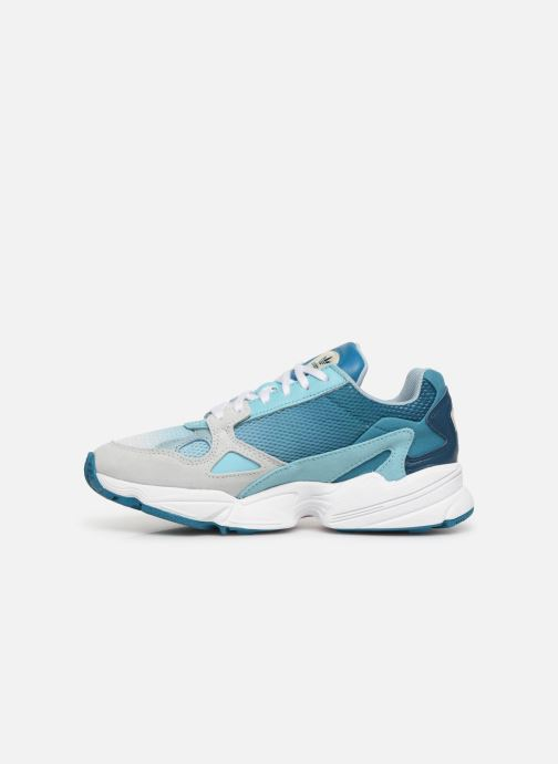 Baskets adidas originals Falcon W Bleu vue face