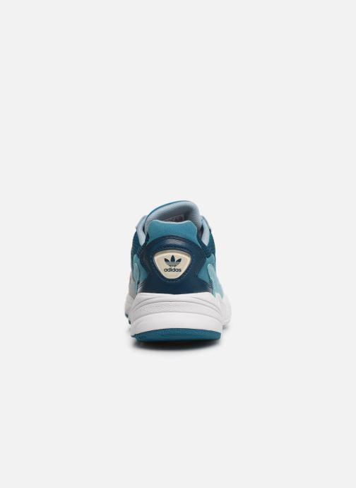 Deportivas adidas originals Falcon W Azul vista lateral derecha