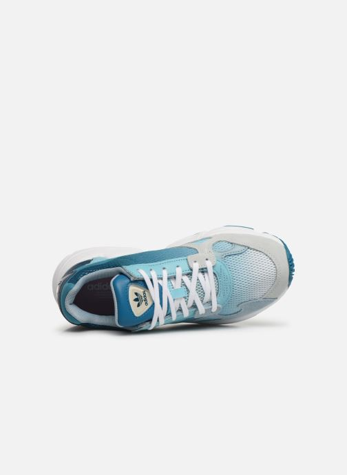 Sneaker adidas originals Falcon W blau ansicht von links