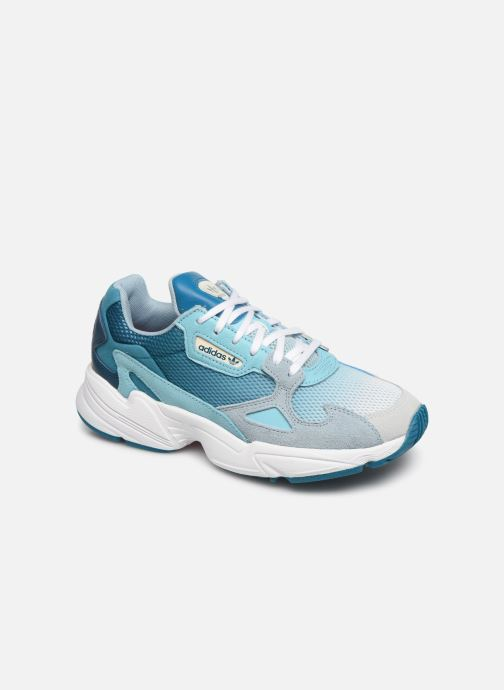 Baskets adidas originals Falcon W Bleu vue détail/paire