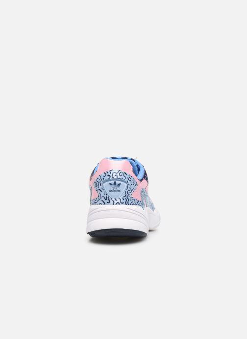 Sneaker adidas originals Falcon W blau ansicht von rechts