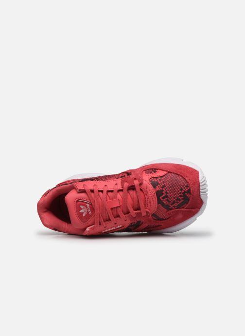 Baskets adidas originals Falcon W Rouge vue gauche