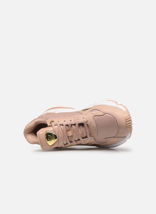 Sneaker adidas originals Falcon W beige ansicht von links