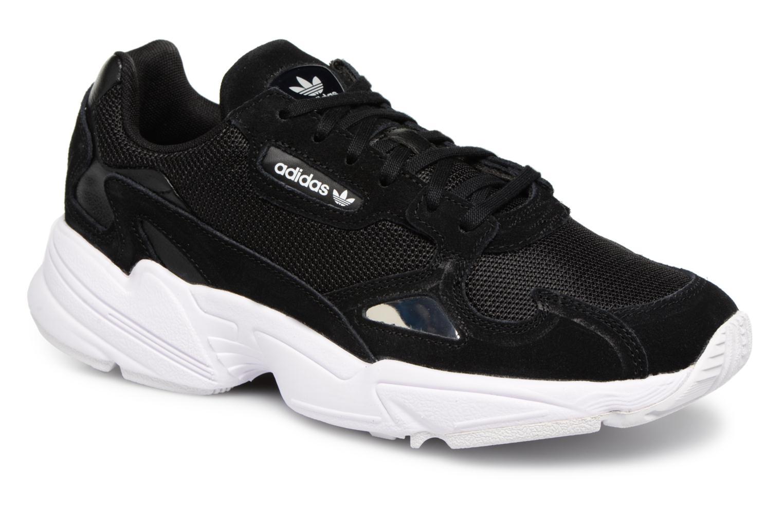 Baskets Adidas Originals Falcon W Noir vue détail/paire