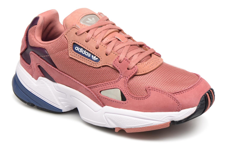 Baskets Adidas Originals Falcon W Rose vue détail/paire
