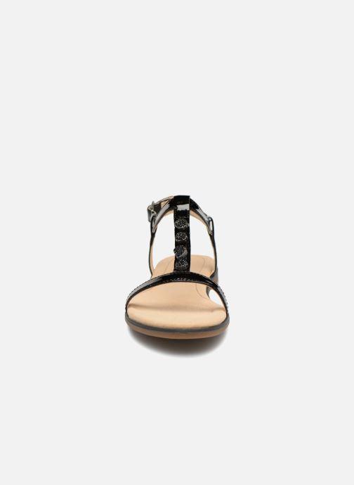 Sandales et nu-pieds Clarks Bay Blossom Noir vue portées chaussures