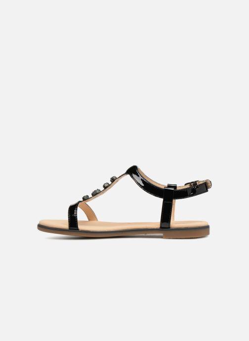 Sandales et nu-pieds Clarks Bay Blossom Noir vue face