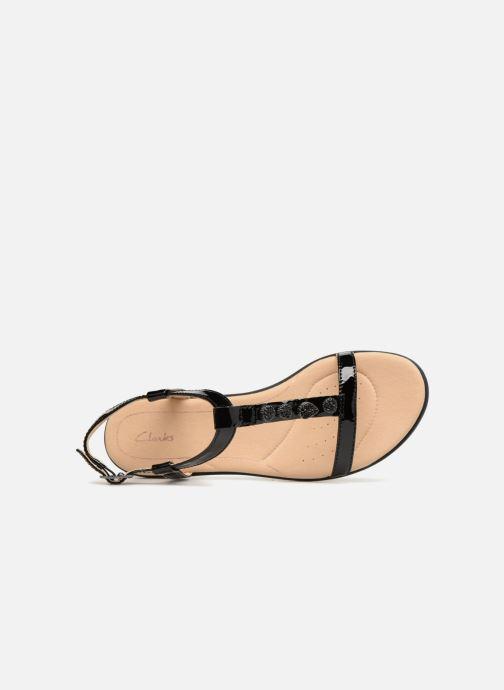 Sandales et nu-pieds Clarks Bay Blossom Noir vue gauche