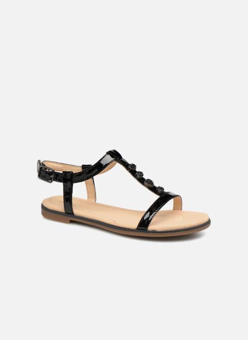 Sandales et nu-pieds Clarks Bay Blossom Noir vue détail/paire