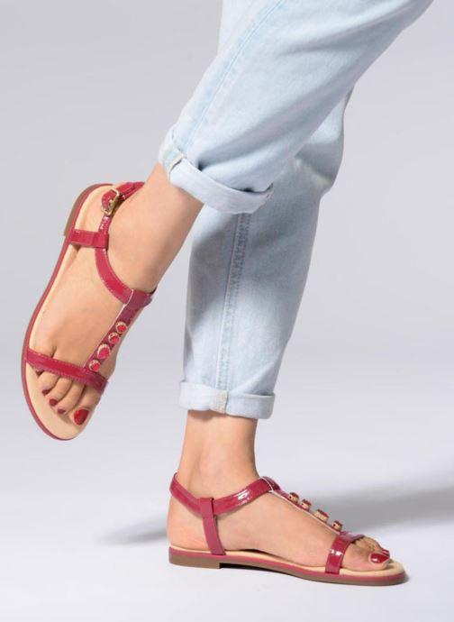 Sandales et nu-pieds Clarks Bay Blossom Rose vue bas / vue portée sac