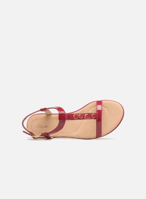 Sandales et nu-pieds Clarks Bay Blossom Rose vue gauche