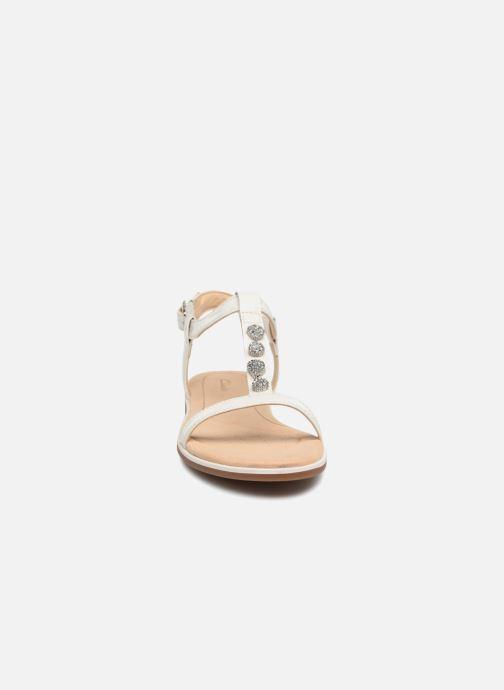 Sandales et nu-pieds Clarks Bay Blossom Blanc vue portées chaussures