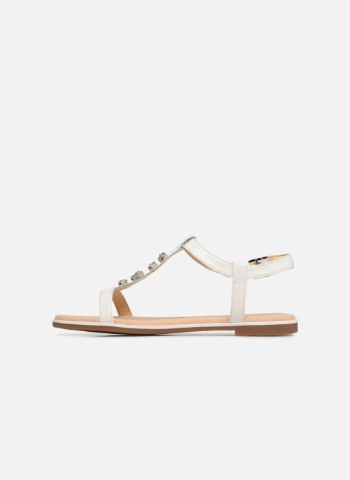 Sandales et nu-pieds Clarks Bay Blossom Blanc vue face