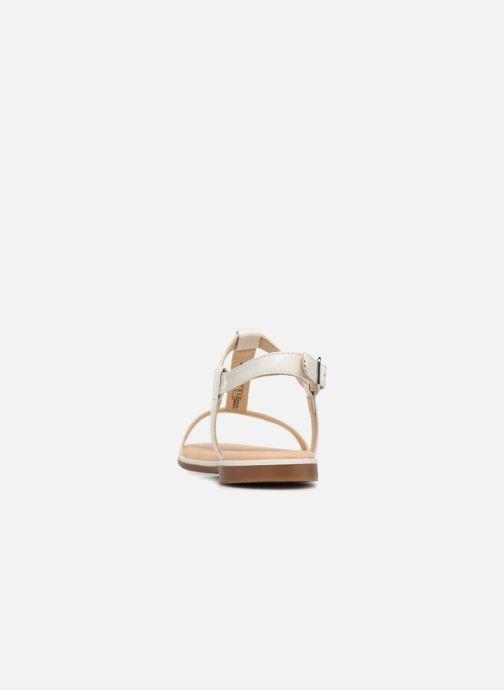 Sandales et nu-pieds Clarks Bay Blossom Blanc vue droite