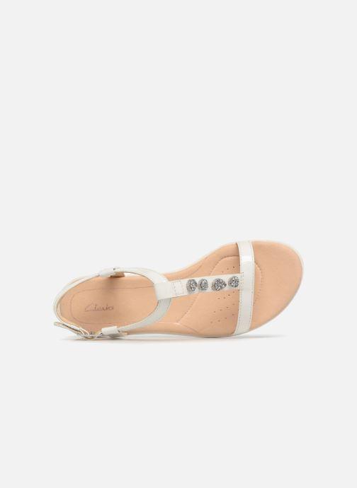 Sandales et nu-pieds Clarks Bay Blossom Blanc vue gauche