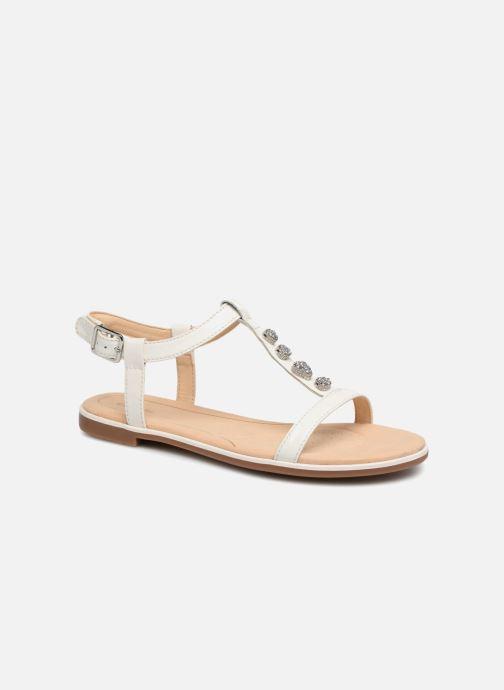 Sandales et nu-pieds Clarks Bay Blossom Blanc vue détail/paire