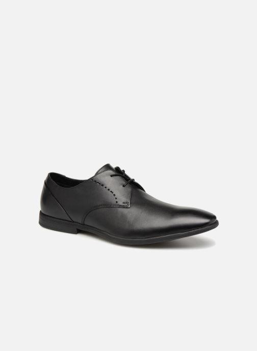 Snøresko Clarks Bampton Lace Sort detaljeret billede af skoene