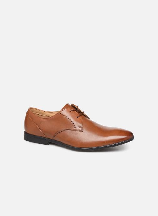 Snøresko Clarks Bampton Lace Brun detaljeret billede af skoene