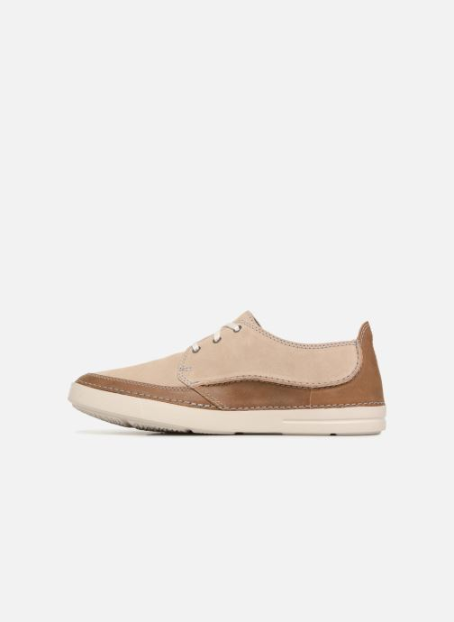 Lace-up shoes Clarks Gosler Edge Beige front view