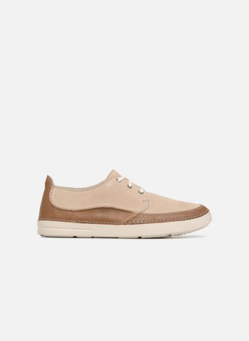 Lace-up shoes Clarks Gosler Edge Beige back view