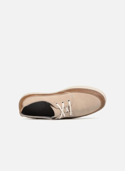 Lace-up shoes Clarks Gosler Edge Beige view from the left