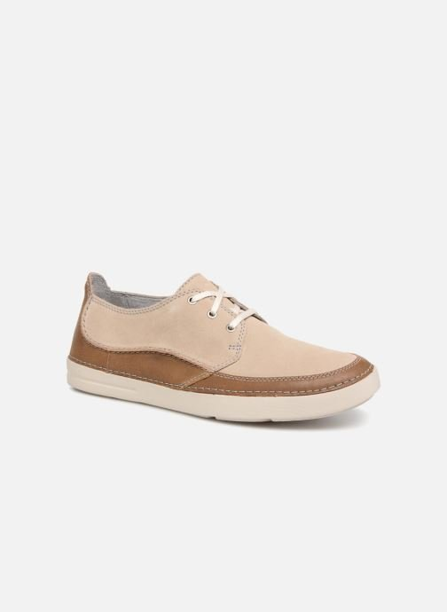 Lace-up shoes Clarks Gosler Edge Beige detailed view/ Pair view