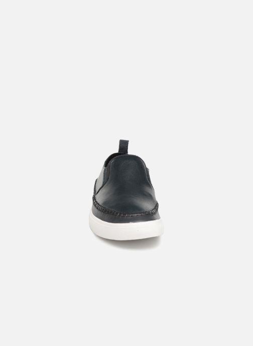 Baskets Clarks Kessell Slip Bleu vue portées chaussures