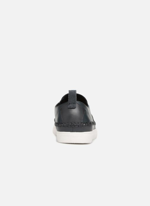 Trainers Clarks Kessell Slip Blue view from the right