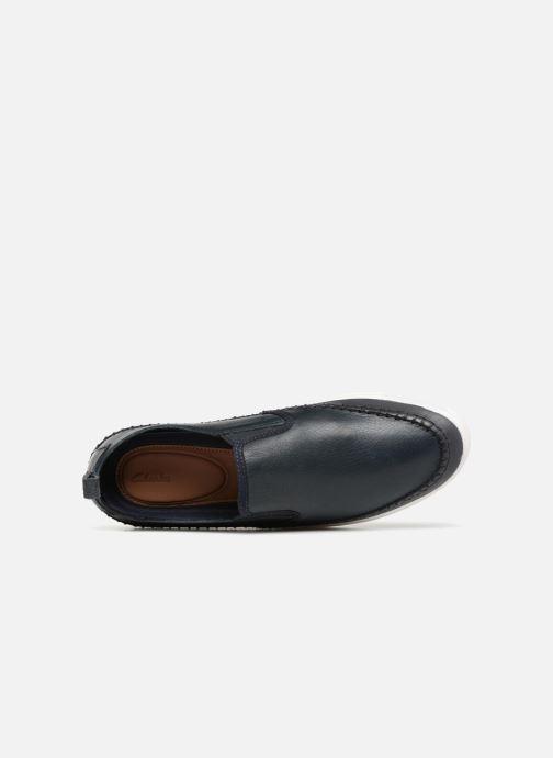 Slip Clarks Leather Baskets Kessell Navy tshBCrxQd