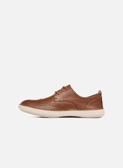 Lace-up shoes Clarks Komuter Run Brown front view