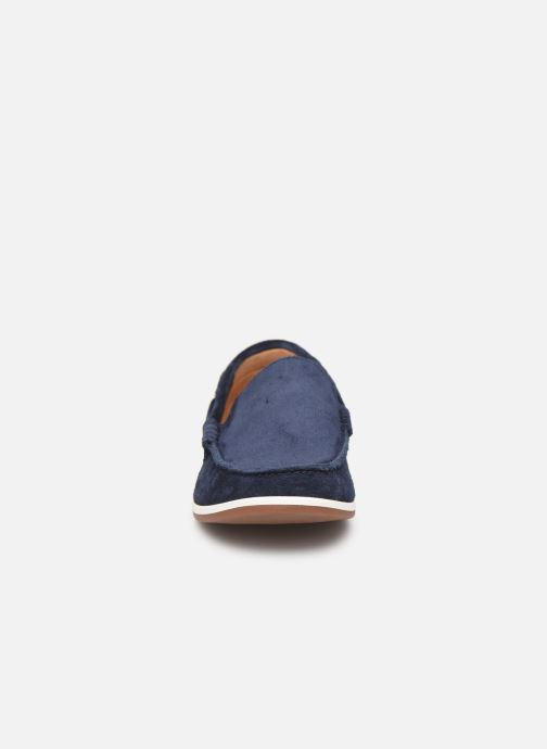 Mocassins Clarks Morven Sun Bleu vue portées chaussures