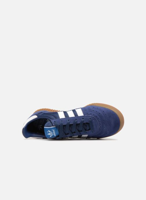 Sneaker adidas originals Indoor Super blau ansicht von links