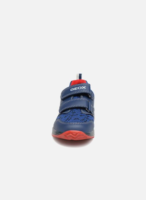 Baskets Geox B Todo Boy B9284A Bleu vue portées chaussures