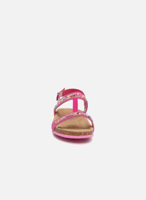 Sandales et nu-pieds Geox J N.S.ALOHA G Rose vue portées chaussures