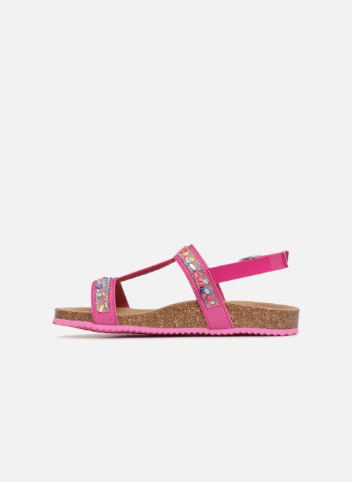 Sandales et nu-pieds Geox J N.S.ALOHA G Rose vue face