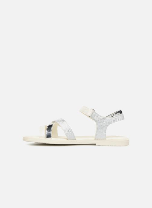 Sandales et nu-pieds Geox J S.KARLY G Blanc vue face