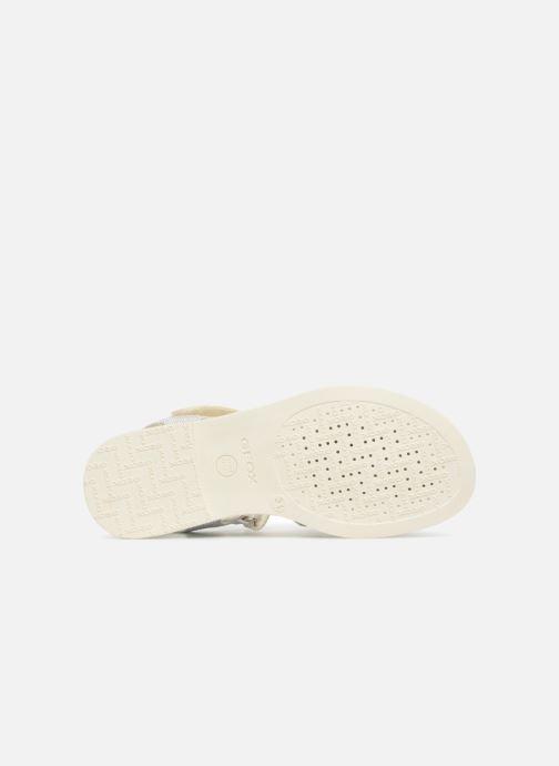 Sandales et nu-pieds Geox J S.KARLY G Blanc vue haut