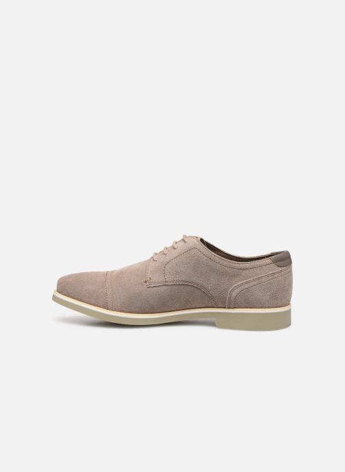 Lace-up shoes Geox U DANIO A Beige front view