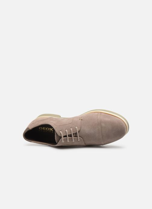 Lace-up shoes Geox U DANIO A Beige view from the left