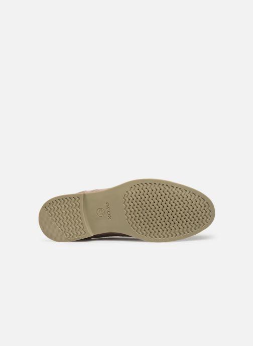 Chaussures à lacets Geox U DANIO A Beige vue haut