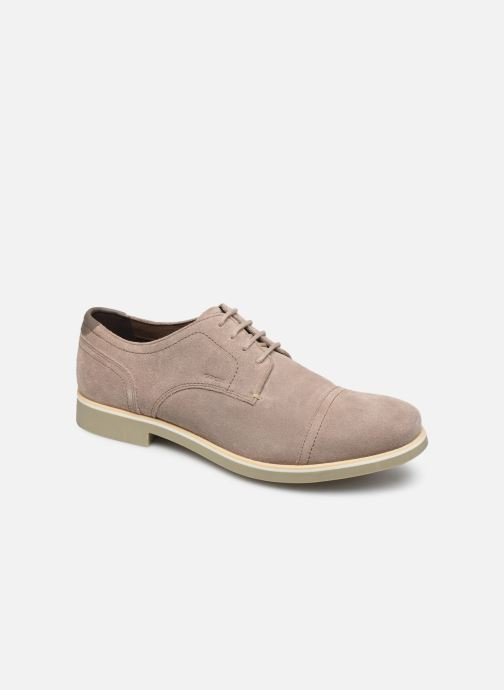 Lace-up shoes Geox U DANIO A Beige detailed view/ Pair view