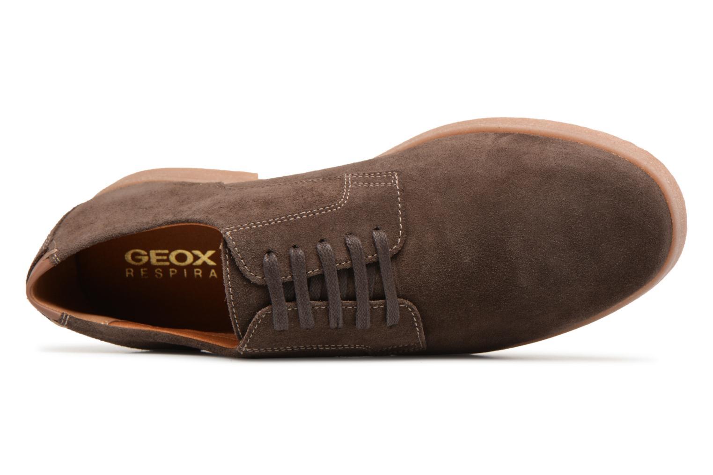 Chaussures à lacets Geox U DWAIN B Marron vue gauche