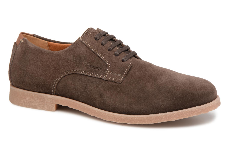 Chaussures à lacets Geox U DWAIN B Marron vue détail/paire