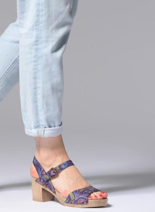 Sandals Ippon Vintage SOK-POWER Purple view from underneath / model view