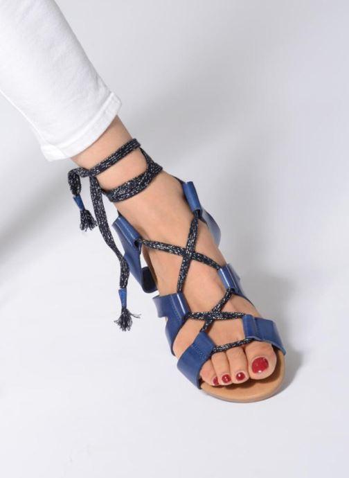 Sandales et nu-pieds Ippon Vintage SAND-LACE Bleu vue bas / vue portée sac
