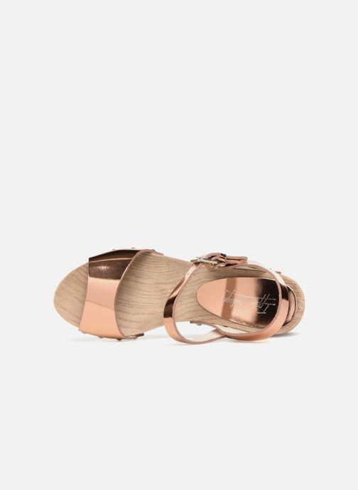 Sandales et nu-pieds Ippon Vintage SOK-METAL Rose vue gauche