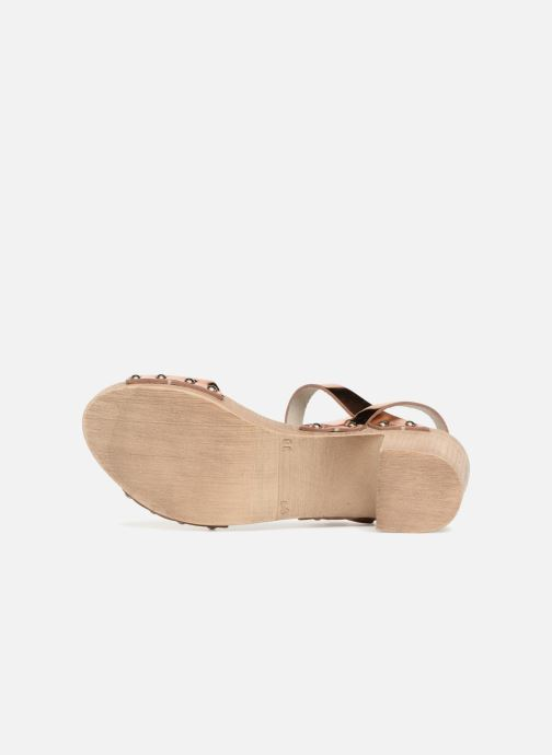 Sandales et nu-pieds Ippon Vintage SOK-METAL Rose vue haut
