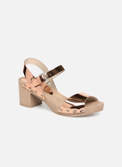 Sandales et nu-pieds Ippon Vintage SOK-METAL Rose vue détail/paire