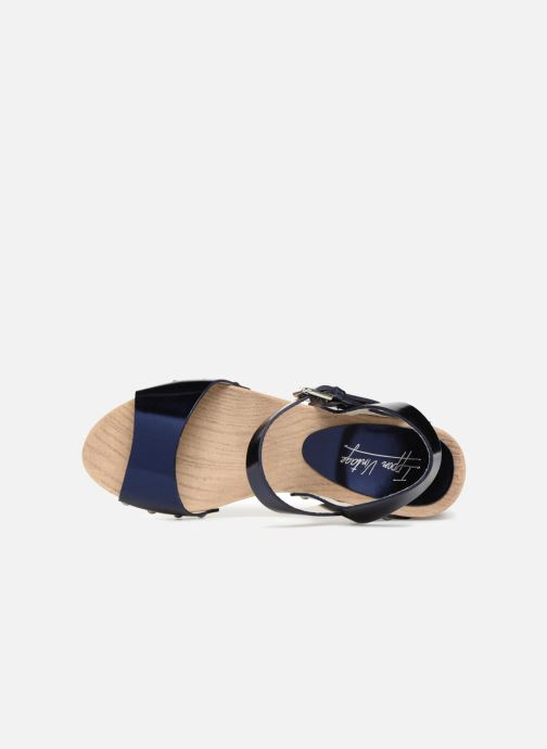 Sandalias Ippon Vintage SOK-METAL Azul vista lateral izquierda